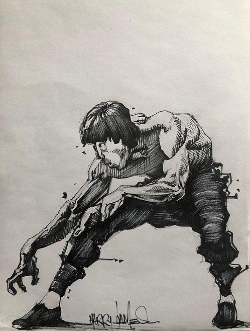 Bruce Lee en chasse - Original
