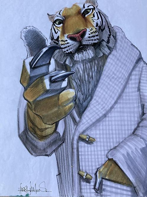 Tigre en gilet - Original