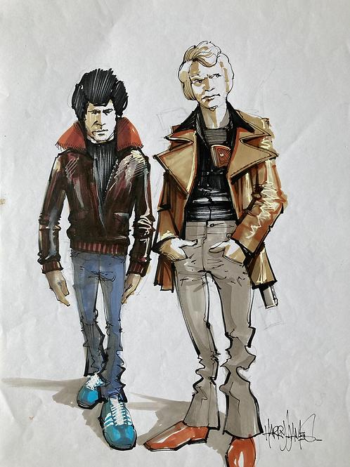 Starsky & Hutch caricature - Original