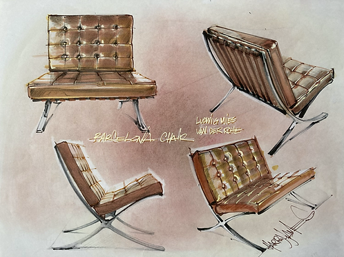 Composition fauteuil Barcelona - Original