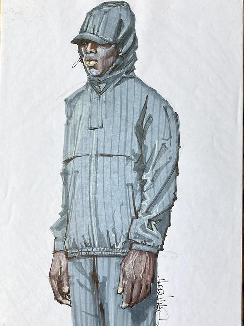 Homme capuche visière - Original