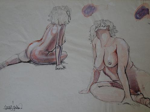 Premier nus assis - Original
