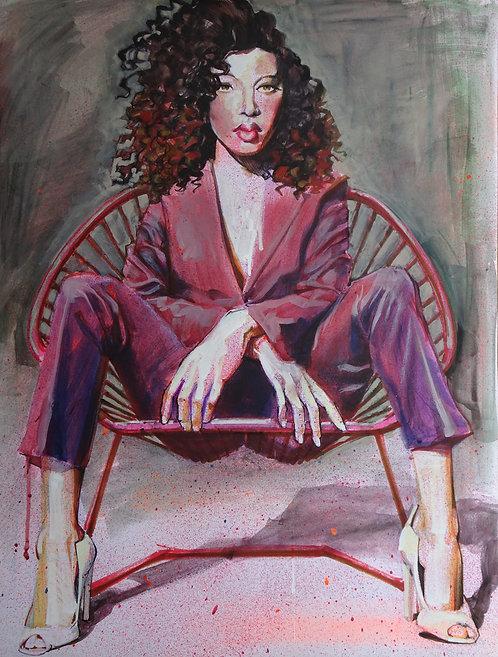 Femme en tailleur - Original