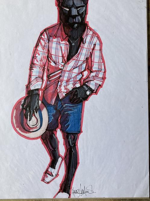 Panthère noire en été - Original