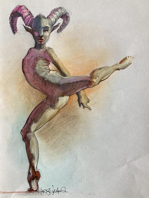 Danseuse cornue - Original