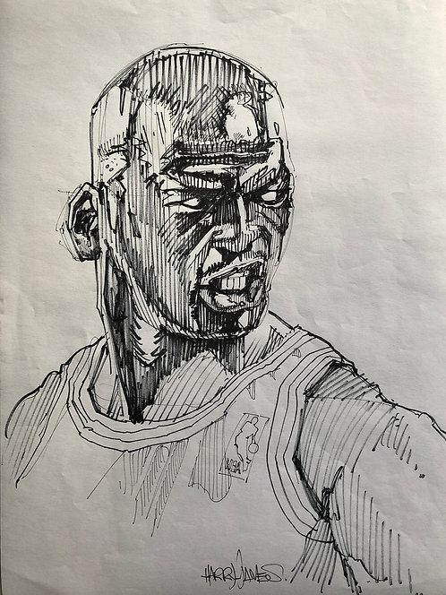Portrait Michael Jordan - Original