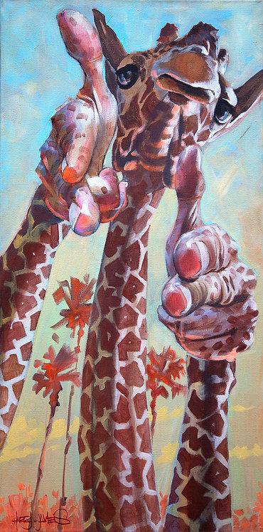 Girafe ' Bang Bang ' - Print A3