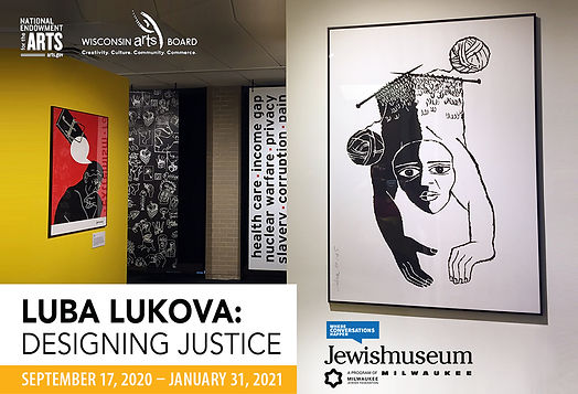 Luba Lukova at Jewish Museum Milwaukee
