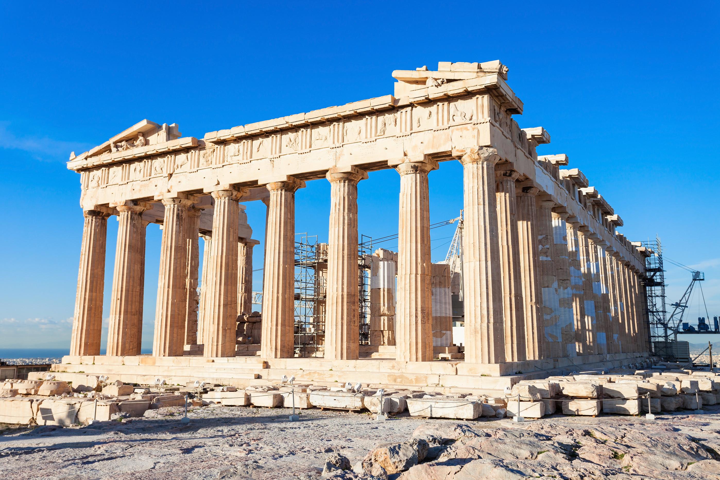 The Parthenon Temple on the Acropolis in