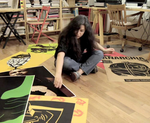 Luba Lukova in her studio.