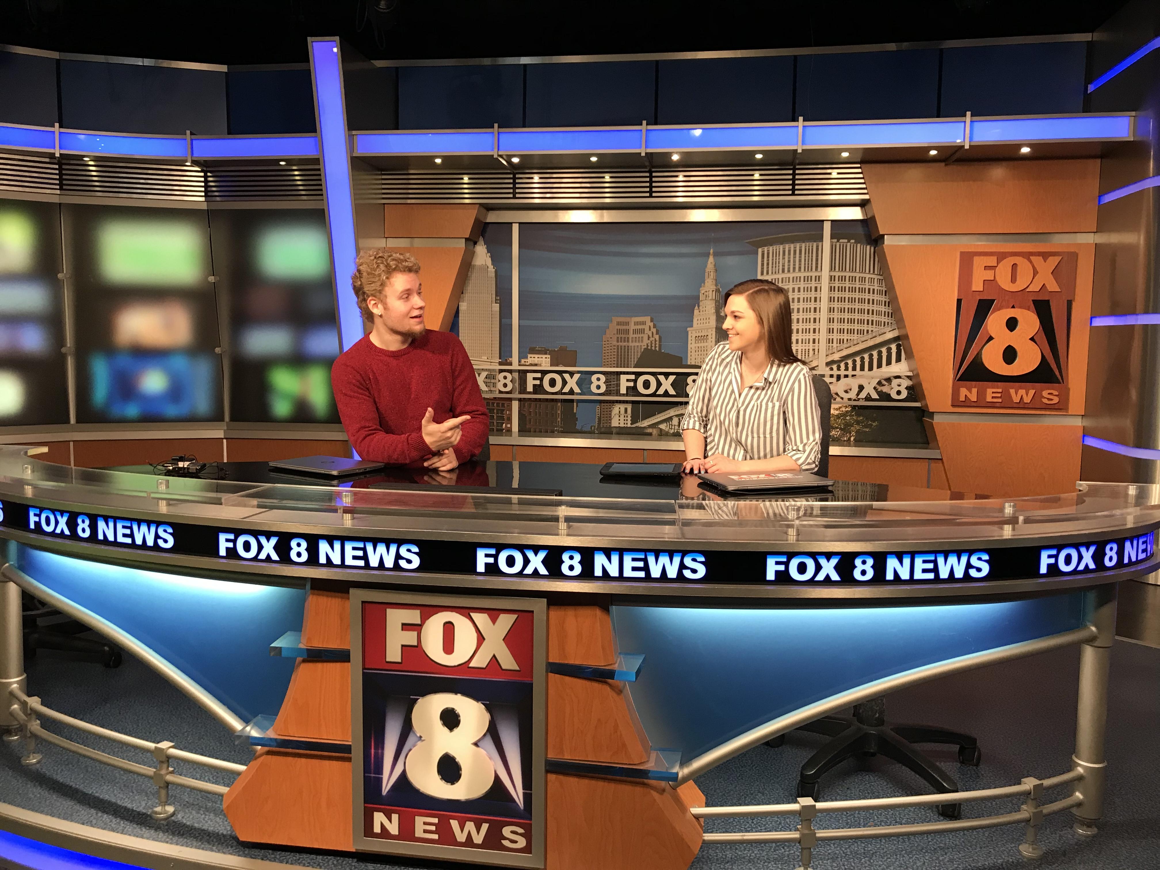 Behind the scenes of Fox 8 News