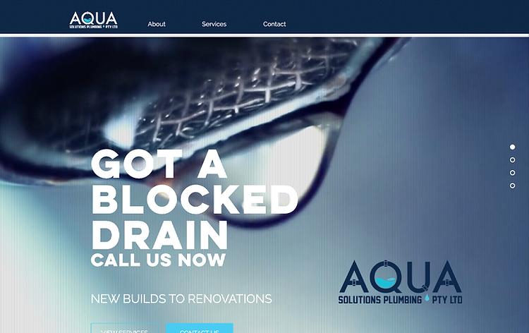 Aqua Solutions plumbing Web