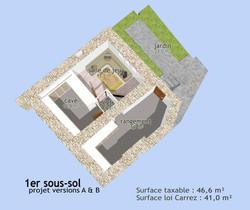 Plan 3D du sous-sol