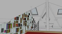 Vue depuis le lit (modélisation 3D)
