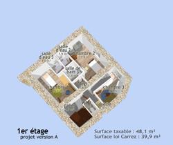 Plan 3D du 1er étage