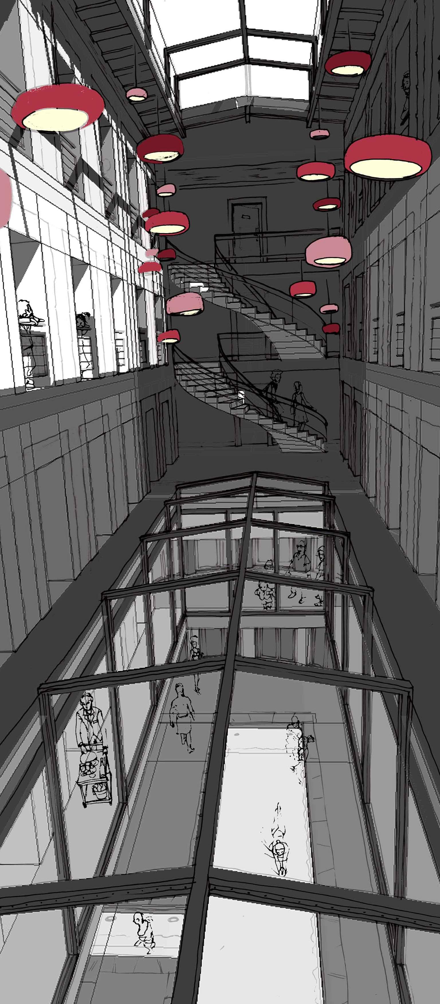 Projet - Prison - Vue intérieure