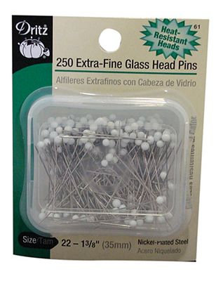 Glass Head Pins - Extra Fine