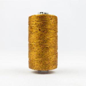WONDERFIL DAZZLE 8wt Rayon with Metallic Thread GOLDEN BROWN