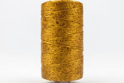 WONDERFIL DAZZLE 8wt Rayon with Metallic Thread GOLDEN BROWN