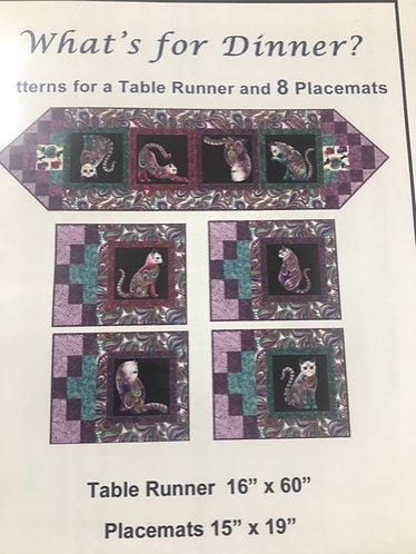 What's for Dinner Placemats and Tablerunner Kit