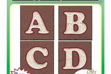 Quilted Stipple Alphabet Embroidery Designs