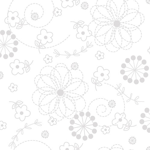 KimberBell Basics DOODLES WHITE ON WHITE