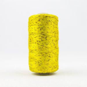 WONDERFIL DAZZLE 8wt Rayon with Metallic Thread LEMON YELLOW