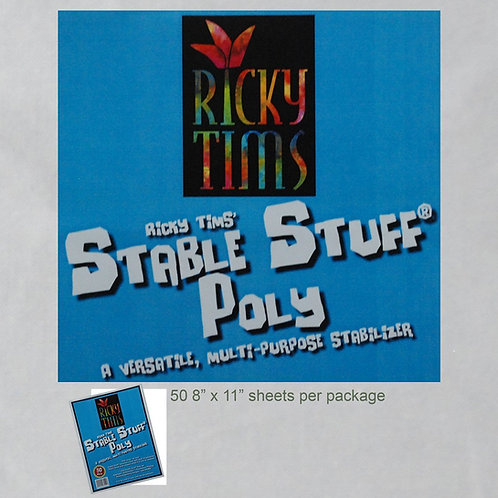 Ricky Tims Stable Stuff Poly - 8 1/2in x 11in - 50 sheets