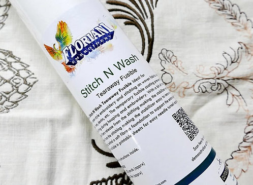Floriani Stitch n Wash Fusible 12in x10yd