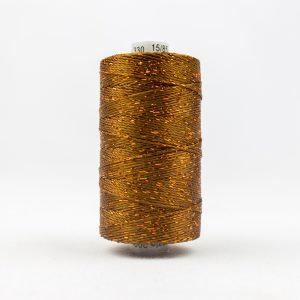 WONDERFIL DAZZLE 8wt Rayon with Metallic Thread ACORN BROWN