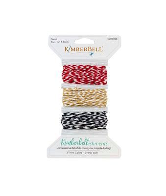 Kimberbell Kimberbellishments Twine Set - Red, Tan & Black
