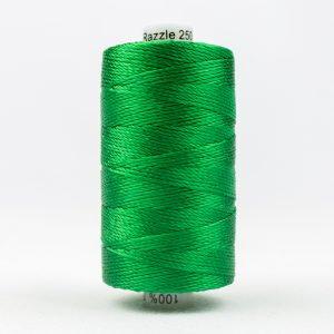 WONDERFIL RAZZLE 8wt Rayon Thread BRILLIANT GREEN