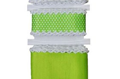 KimberBell CROCHETED EDGE TRIM LIME