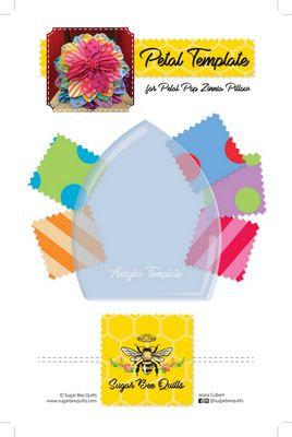Petal Template for Petal Pop Zinnia Pillow