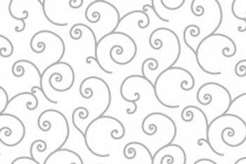 KimberBell Basics SCROLL WHITE/GRAY