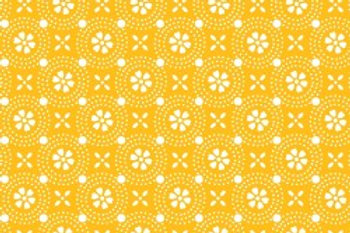 KimberBell Basics DOTTED CIRCLE YELLOW
