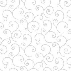 KimberBell Basics SCROLL WHITE ON WHITE