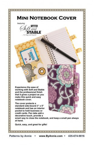 MINI NOTEBOOK COVER By Annie Pattern
