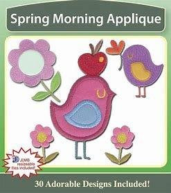 Spring Morning Applique Embroidery Designs