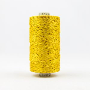 WONDERFIL DAZZLE 8wt Rayon with Metallic Thread SUNNY YELLOW