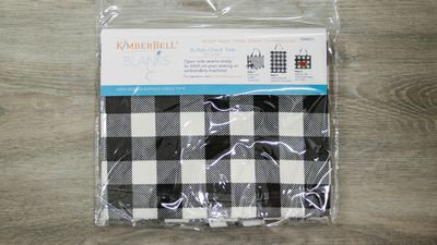 KimberBell BUFFALO CHECK TOTE BLACK & WHITE