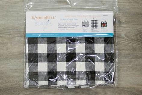 KimberBell BUFFALO CHECK TOTE BLACK & WHITE