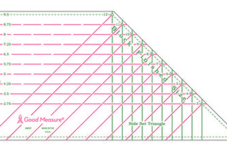 Good Measure Cut for the Cure Ruler SIDE SET TRIANGLE
