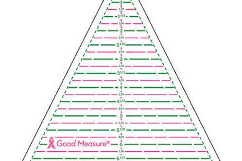 Good Measure Cut for the Cure Ruler BIAS TRIANGLE