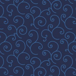 KimberBell Basics SCROLL NAVY BLUE