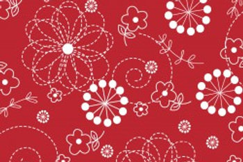 KimberBell Basics DOODLES RED