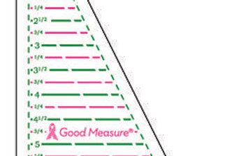 Good Measure Cut for the Cure Ruler HALF RECTANGLE