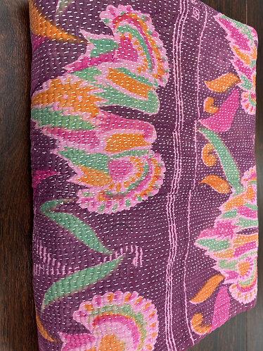 Exquisite Vintage Quilt -Purple with Swirling Motifs