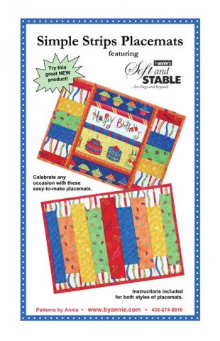 SIMPLE STRIPS PLACEMATS By Annie Pattern