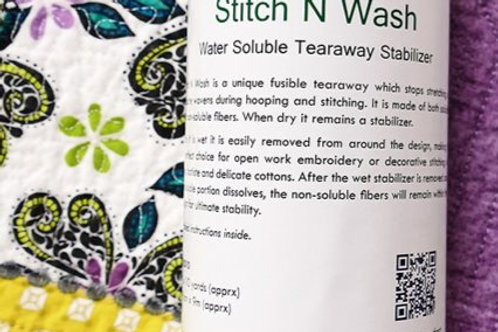 Floriani Water Soluble Stitch and Wash 12inx10yds